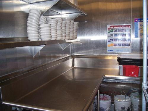 Restaurant Kitchen Counter stainless & custom stainless kitchen & food prep