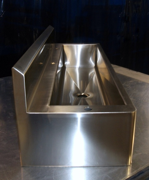 Stainless custom stainless kitchen food prep for Designer stainless steel sinks